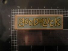 Good luck wood mounted Rubber stamp - some discoloration