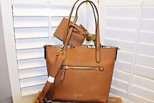 Nicole Miller Tote Shopper Crossbody in Chestnut brown Medium size NWT