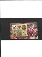 Guernsey Mini Sheet Used Flowers