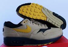 Nike Air Max 1 Premium Gold-Mineral Yellow-Black Men's SZ 11.5 [875844-700]
