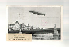 1929 Germany Graf Zeppelin World Flight Real Picture Postcard Cover to USA