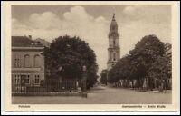 POTSDAM um 1920 Garnisonskirche Breite Strasse u. Restaurant Zum Lustgarten AK