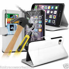 Cartera De Cuero Libro Funda de teléfono ✔Cristal Protector Pantalla ✔ Apple