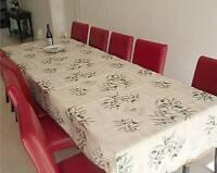 Tischdecke Provence 150x300 cm Oliven creme Frankreich, bügelfrei, pflegeleicht
