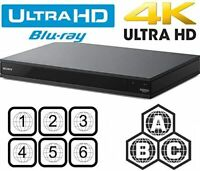 SONY UBP-X800M2 4K UHD ALL REGION FREE BLU-RAY DVD PLAYER ZONE A,B,C & DVD: 0-9,