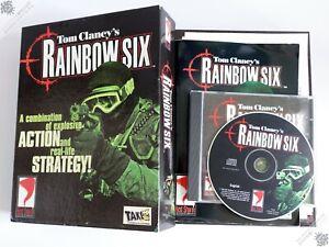 PC IBM TOM CLANCY'S RAINBOW SIX BIG BOX CD-ROM VINTAGE COM GAME RED STORM