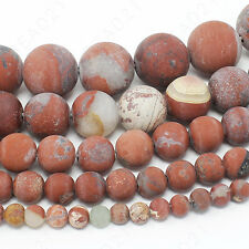 "Matte Natural Gemstone Beads Round Loose 4mm 6mm 8mm 10mm 12mm 15.5"" Strand"