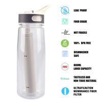 Filtered Water Bottle, BPA Free 4-Stage Filter Straw for Camping,Hiking,Backpack