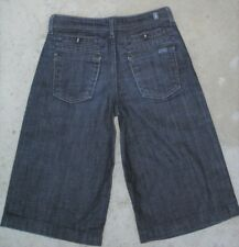 7 for all Mankind Little Girls Crop Denim Shorts Girls Sz 12