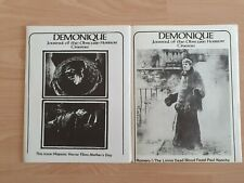 Famous monsters/Demonique Fanzines #s 2 and 3-nice condition