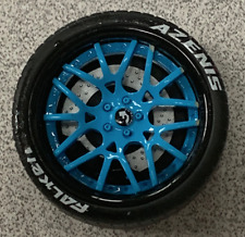 1/18 AB Models Forgiato Wheels Ideal For Maserati in Baby Blue / Black AB1036C