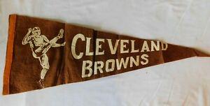 Rare 1960s CLEVELAND BROWNS   Pennant Flag - Ohio Football NFL