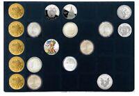 1 x Leuchtturm 331597 Münztableaus Blau 35 Fächer 39x39mm Für große Unzen Münzen