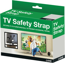 NEW Crest CS1F Flat Panel TV Safety Strap - 60kgs Max Load