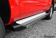 To Fit 2005 - 2016 Nissan Navara D40 Polished Aluminium Side Steps Running Board