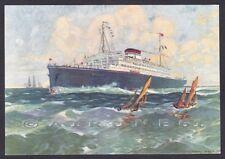 MOTONAVE SATURNIA 06 VULCANIA - COSULICH - NAVE MARINA SHIP Cartolina 1935