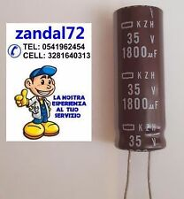 20 PEZZI CONDENSATORE ELETTROLITICO VERTICALE 1800uF 35V 105° 12,5x35 PASSO 5mm