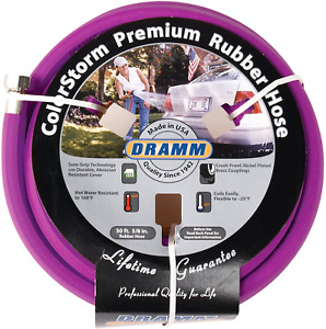50 Feet Dramm 17006 ColorStorm Rubber Garden Hose 5/8 Hot Water Resistant New