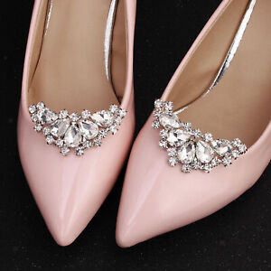 Rhinestone Crystal Shoe Clips Women Wedding Banquet Boots Charms Jewelry Decor