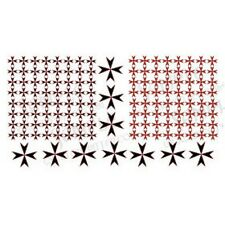 Ginfritter Gnomish Workshop WARCRO001 Maltese Cross Decal Black & Red +Warhammer