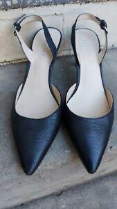 Nine West Black leather slingback shoes  Heels - Size 8.5