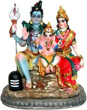 "Lord Shiva Ganesh Goddess Parvati Family STATUE 6"" Figurine Hindu God INDIAN"