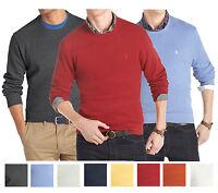 New IZOD Men's Solid Sueded-Fleece Crewneck Pullover Assorted Color MSRP $50
