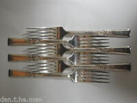 VINTAGE SET OF 6 SILVER PLATED DESSERT FORKS -  CONSORT PATTERN by PINDER BROs.
