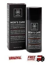 Apivita Mens Care Face and Eye Cream Cardamon & Propolis 50ml Anti-Wrinkle