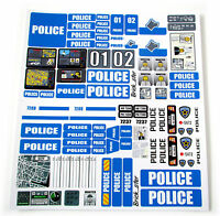 STICKERS for CUSTOM POLICE LEGO 7743 7237 7744 BUILDS, Toys, Etc 'BLUE'