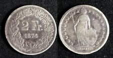 Suisse 2 Francs 1874B Argent/Silver