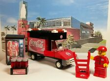 Lego Custom City COCA COLA SET. TRUCK. Vending Machine. Minifigure & MORE!!