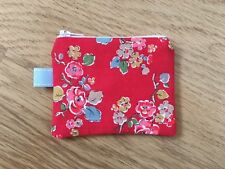 Handmade Mini Coin Purse (11x9cm)  - Cath Kidston Red Woodland Rose Fabric