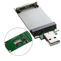 Mini PCI-e Wireless WWAN to USB Adapter card With SIM Card Slot Module testing