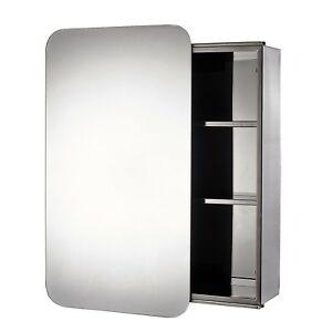 Sanremo Stainless Steel Wall Mounted Mirrored Bathroom Cabinet, Sliding Door