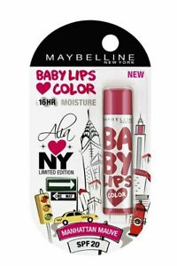 1 PC x 4 GM Maybelline Alia Loves New York Baby Lips Lip Balm Manhattan Mauve