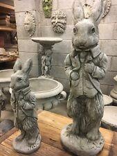 Peter Rabbit Stone Ornament,Garden stone animal sculp,Hand cast well made figue