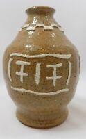 Southwestern Art Pottery Stoneware Bottle Vase Dated 4-79
