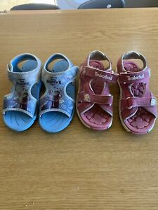 Girls Summer Sandals / Beach Shoes. Frozen And Timberland. Size 10 / 11