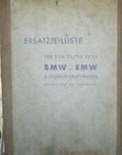* EMW 340 55 PS Eisenach Ersatzteilliste Ergänzte Ausgabe 1959 ORIGINAL *