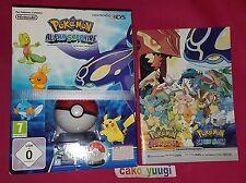 POKEMON ALPHA SAPPHIRE + POKEBALL + POSTER NINTENDO 3DS NEUF + LIVRET 15 PAGES