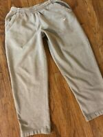 Nike Beige Gray Sweatpants Athletic Gym Basketball Sweats Joggers Pants XL x 32""