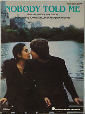 John Lennon – Nobody Told Me 9 X 12 1983 Sheet Music Nr