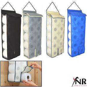 Hanging Toilet Roll Holder Organiser Storage bathroom fabric storage dispenser