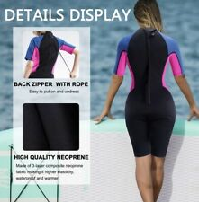 CtriLady Women's Size XL Wetsuit Shorty 1.5mm Neoprene Short Sleeve Diving Suit