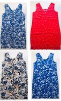 Womens Linen Blend V  Neck Dress Ex High Street.  6-18 Petite Reg Tall  RRP £28