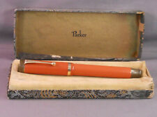 "Parker Vintage ""Big Red"" Senior Duofold  Fountain Pen--Signature Stub Nib"