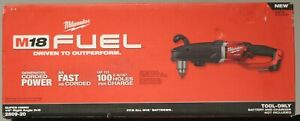 """Milwaukee 2809-20 M18 Fuel Super Hawg 1/2"""" Right Angle Drill 1 Day Ship"""