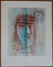 Paul Klee  Girl with Flag  Vintage Original 1st Limited Edition 1960 Lithograph