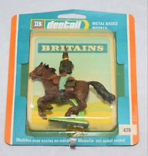 BRITAINS DEETAIL 470 MOUNTED FEDERAL TROOPER WITH RIFLE BUBBLE PACK 1972 ONLY!